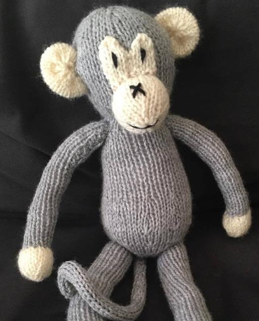 Knit Monkey Toy Allfreeknitting Com