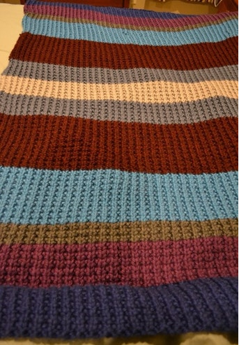 Knitting pattern ~ Broken Cables Baby Blanket