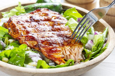 Barbecue Salmon Salad