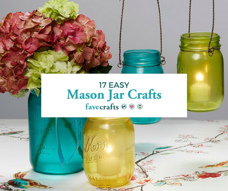 17 Easy Crafts With Mason Jars Favecrafts Com