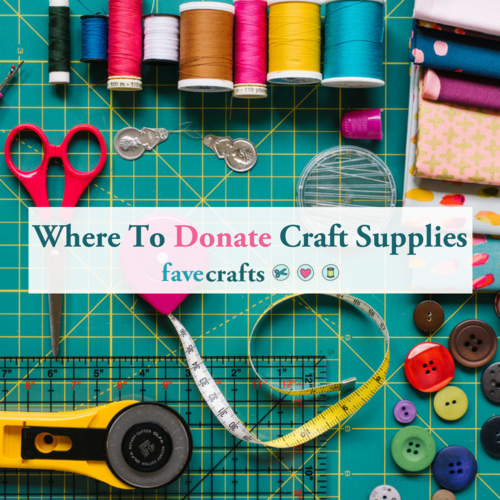 Where to Donate Craft Supplies