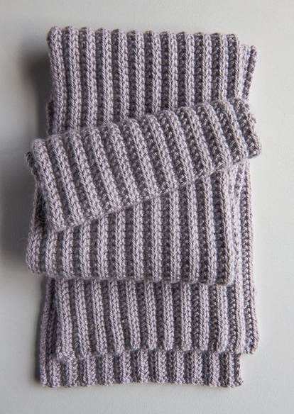 143a772d3 No-Purl Ribbed Scarf