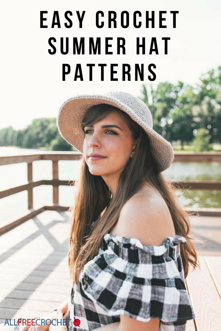 a12e8ec246d 41 Crochet Summer Hat Patterns  Easy Crochet Hats