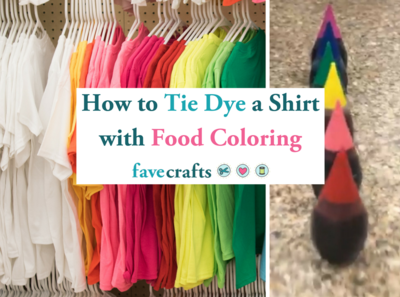 How to Tie Dye a Shirt with Food Coloring