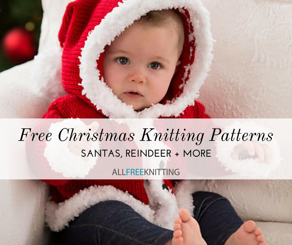 e44b5d877 20+ Free Christmas Knitting Patterns: Santas, Reindeer, and More ...