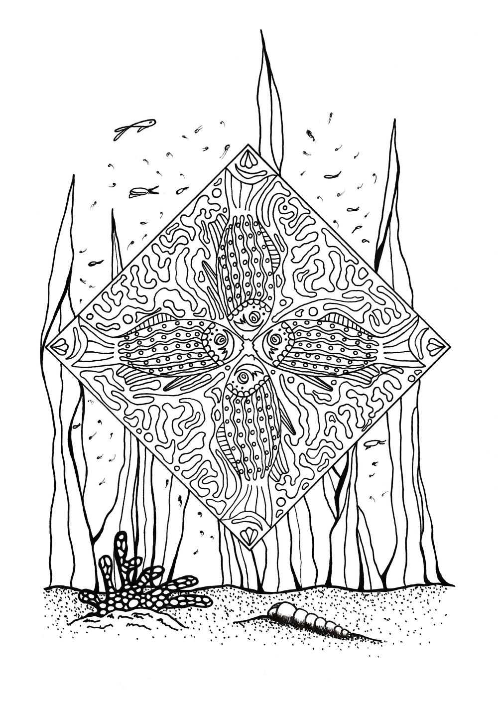 Coral Reef Slice Of Life Adult Coloring Page Favecrafts Com