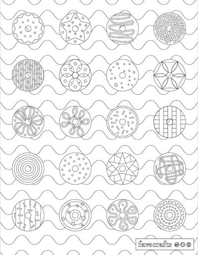 Sprinklicious Donut Coloring Page
