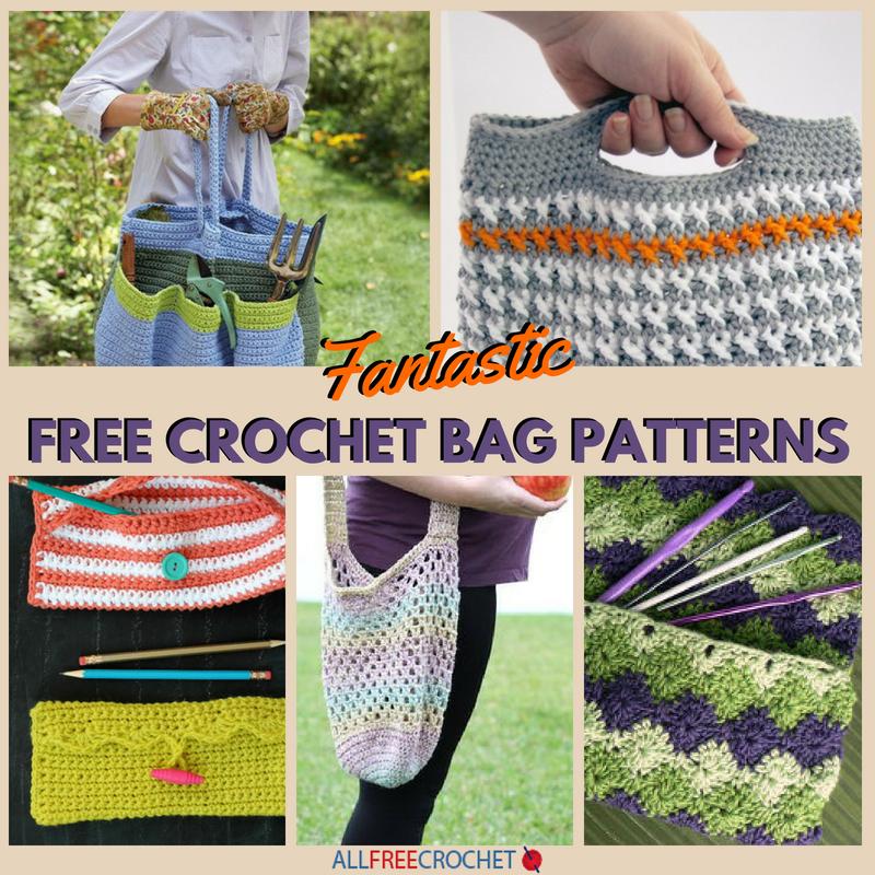23 Fantastic Free Crochet Bag Patterns Allfreecrochetcom