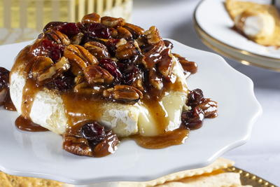 Showstopping Cherry-Pecan Brie