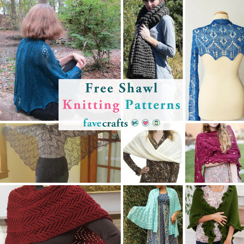 29 Free Shawl Knitting Patterns Favecrafts Com