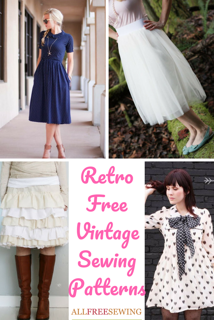 54 Retro Free Vintage Sewing Patterns Allfreesewing Com
