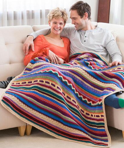 Navajo Inspired Crochet Afghan Pattern Free Printable