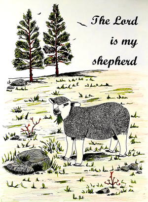 The Lord Is My Shepherd Adult Coloring Page