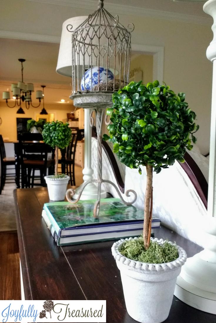 Faux Boxwood Topiary With Diy Terracotta Pots Diyideacenter Com