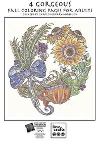 4 Gorgeous Fall Coloring Pages for Adults