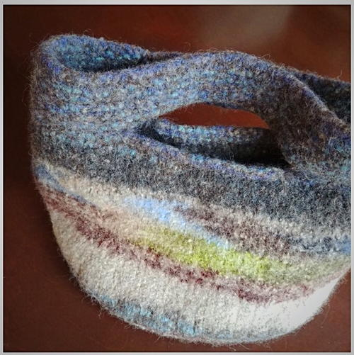 Knit Felted Purse