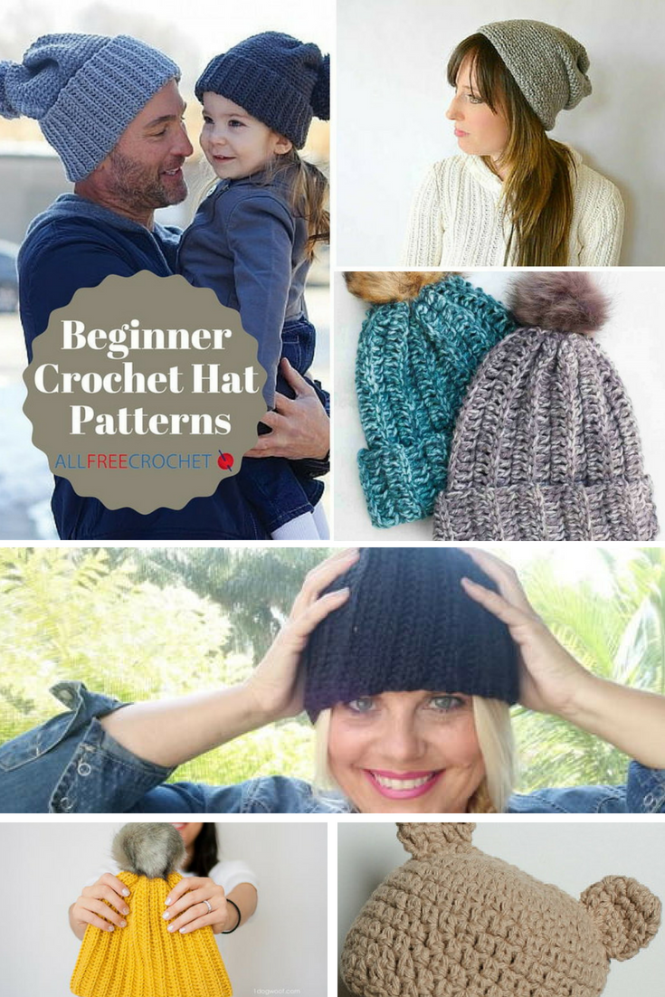 e81fecadc4d 50+ Free Crochet Hat Patterns for Beginners | AllFreeCrochet.com