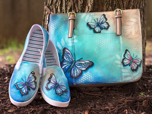 Butterfly Shoes and Purse