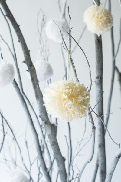 Classically Simple Pom Pom Ornaments
