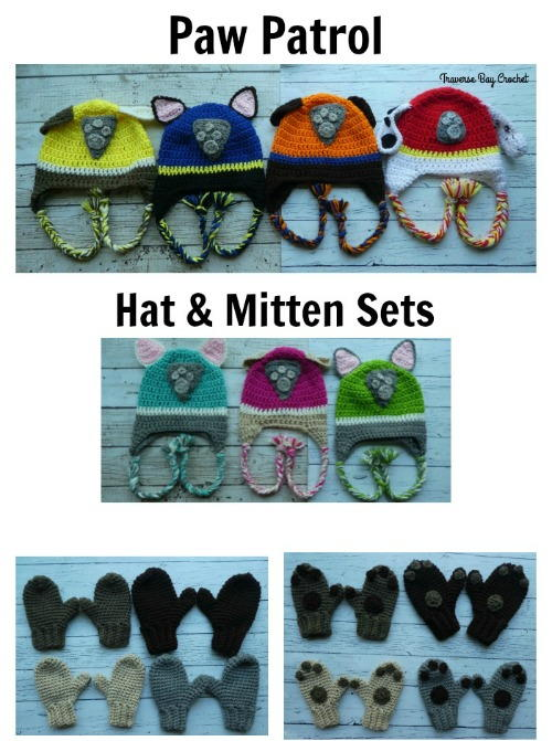 Paw Patrol Hat   Mitten Set  dadc6c41ea6