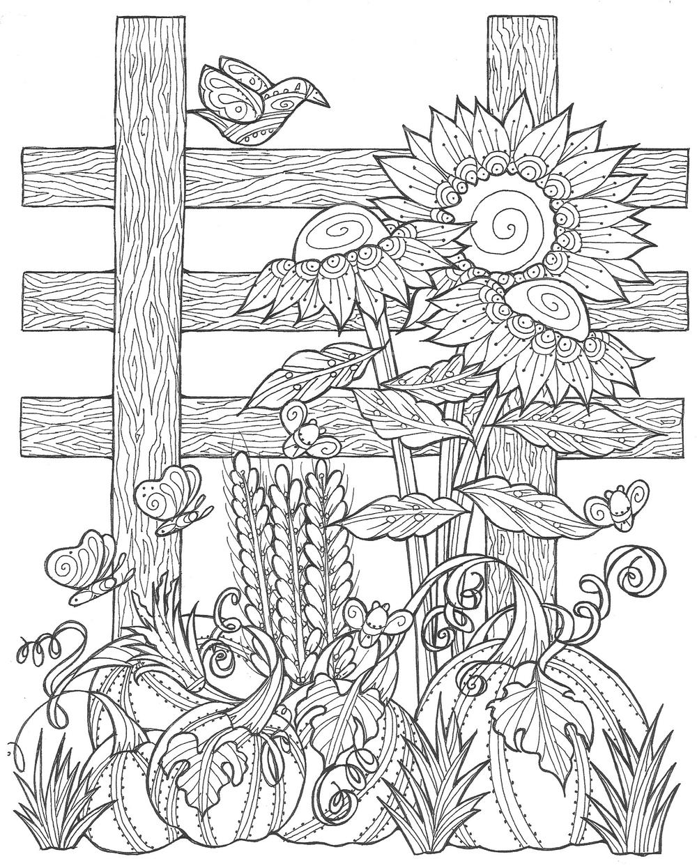 Sunflower Coloring Page. Printables. Apps for Kids. | 1245x1000