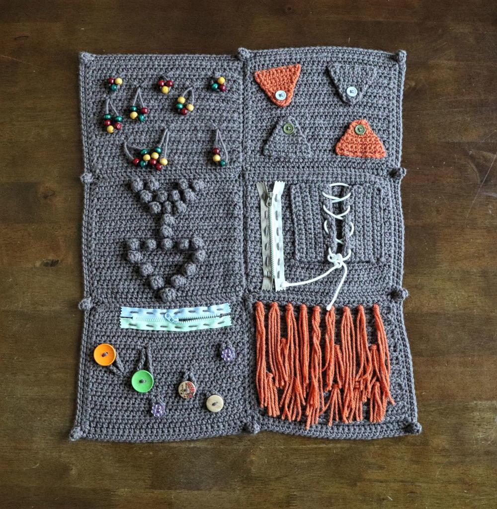 Fidget Sensory Blanket Allfreecrochetafghanpatterns Com