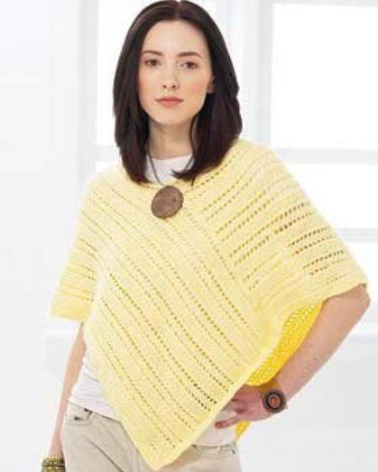 Medium Quick Knit Capelet Knitting Pattern