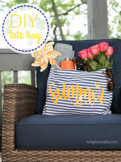 Easy DIY Summer Tote Bag
