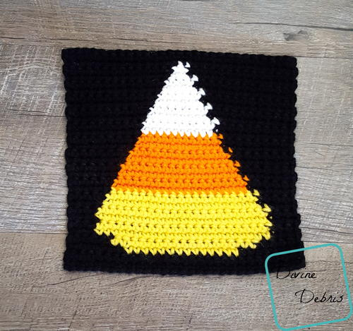 8 Tapestry Candy Corn Afghan Square