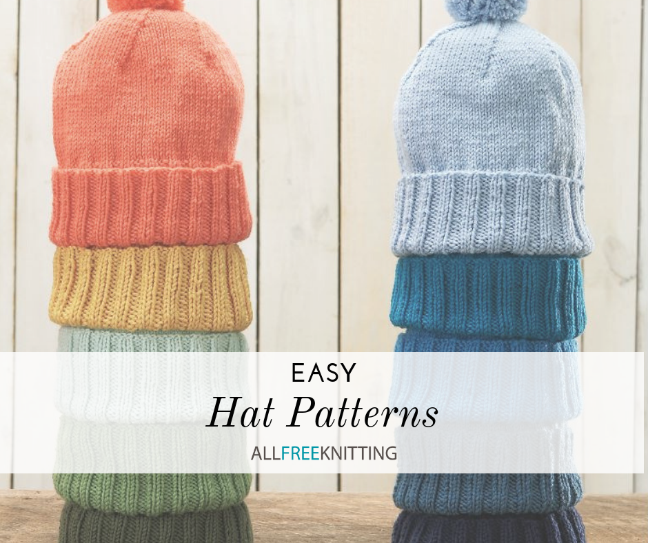 8a0295f3f 19 Easy Hat Knitting Patterns | AllFreeKnitting.com