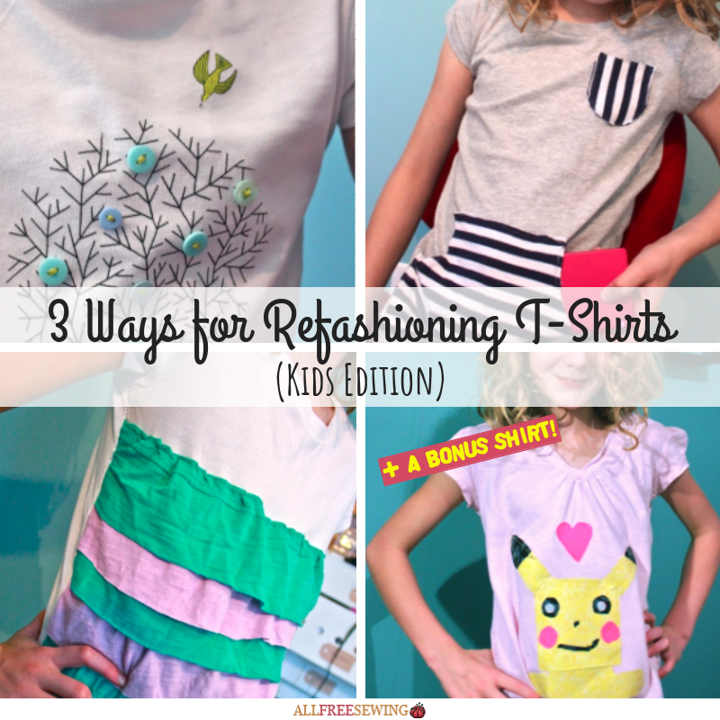 3 ways for refashioning t shirts kids edition allfreesewing com