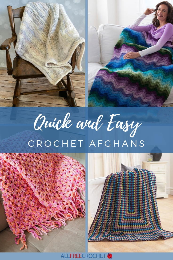 49 Quick And Easy Crochet Afghans Allfreecrochet Com