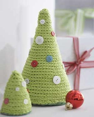Crocheted Christmas Trees