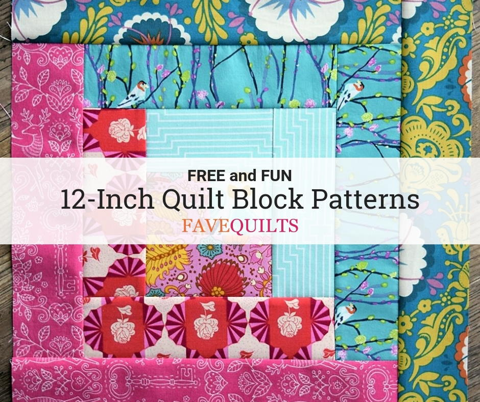 26 Free 12 Inch Quilt Block Patterns | FaveQuilts.com