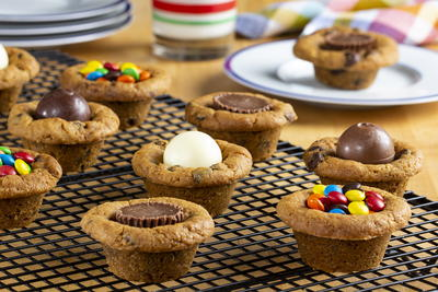 Candy-Filled Cookie Cups