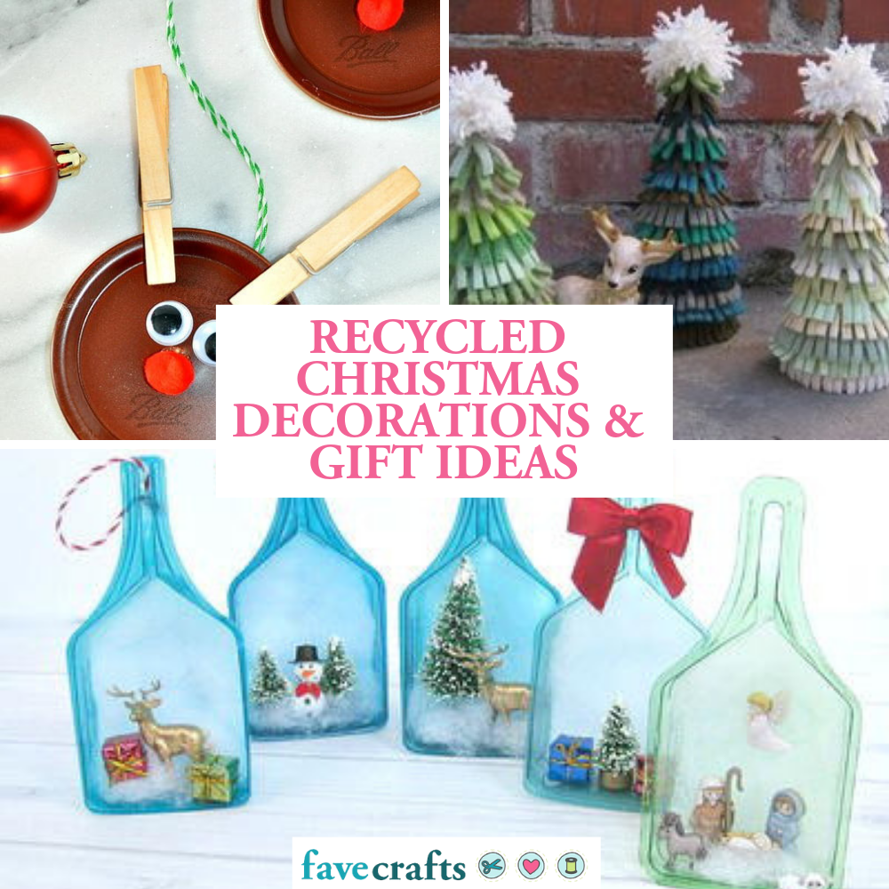 Christmas Tree Recycled Ideas.29 Recycled Christmas Crafts Favecrafts Com