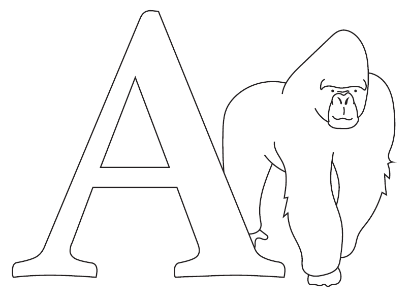 Free Alphabet Coloring Pages PDF | FaveCrafts.com