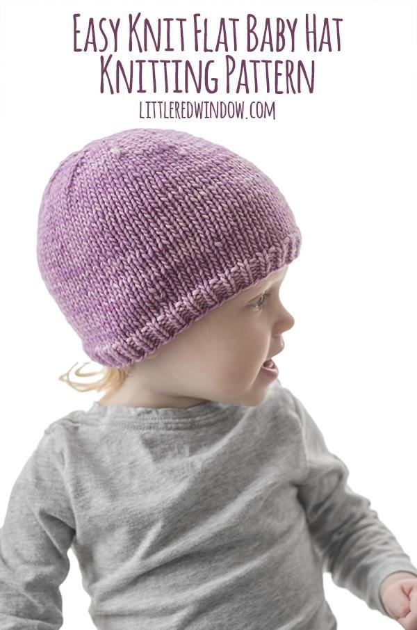 Easy Knit Flat Baby Hat | AllFreeKnitting.com