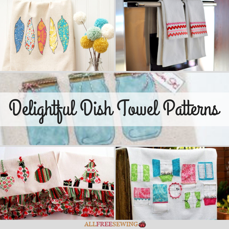 Set of 2 Hanging Cotton Kitchen Towels Dish Towel Hang On Oven Door In 4 Colors