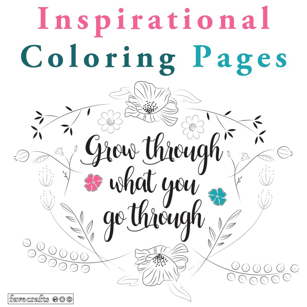 38 inspirational coloring pages favecrafts com
