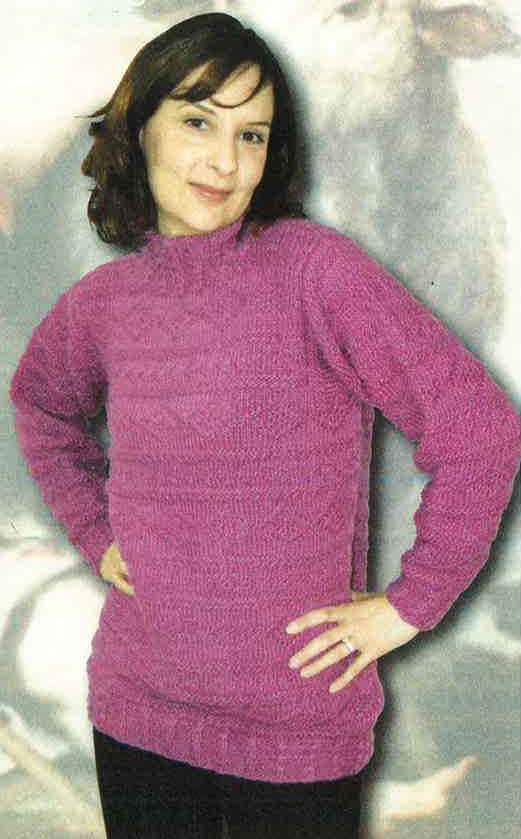 Oodles of Texture Womens Pullover Sweater Knitting Pattern