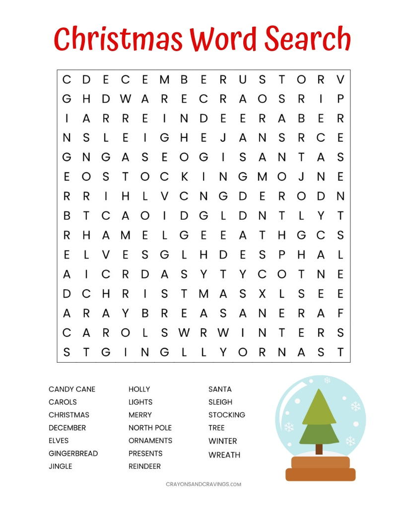 photo relating to Printable Christmas Word Search identified as Xmas Term Glimpse Printable