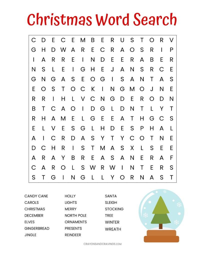photo relating to Printable Christmas Word Search identified as Xmas Term Glimpse Printable