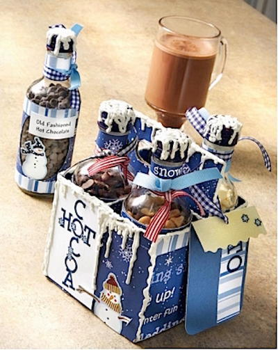 Gourmet Cocoa Gift Set in Recycled Bottles
