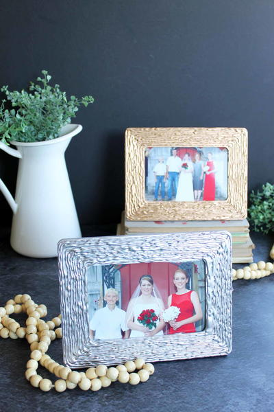 Metallic Picture Frames Hot Glue Craft