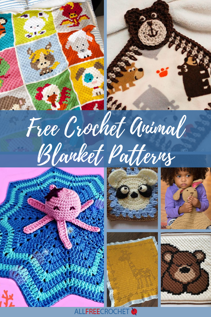 27 Free Crochet Animal Blanket Patterns Allfreecrochet Com