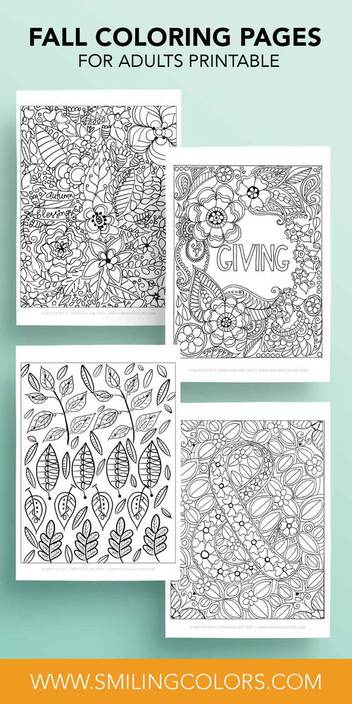 Festive Fall Coloring Pages