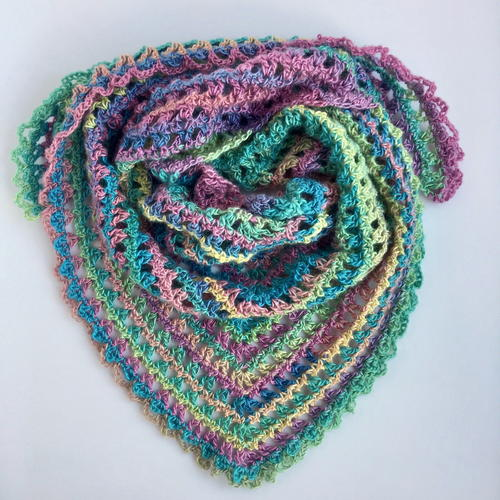 Candy Kisses Scarf Pattern
