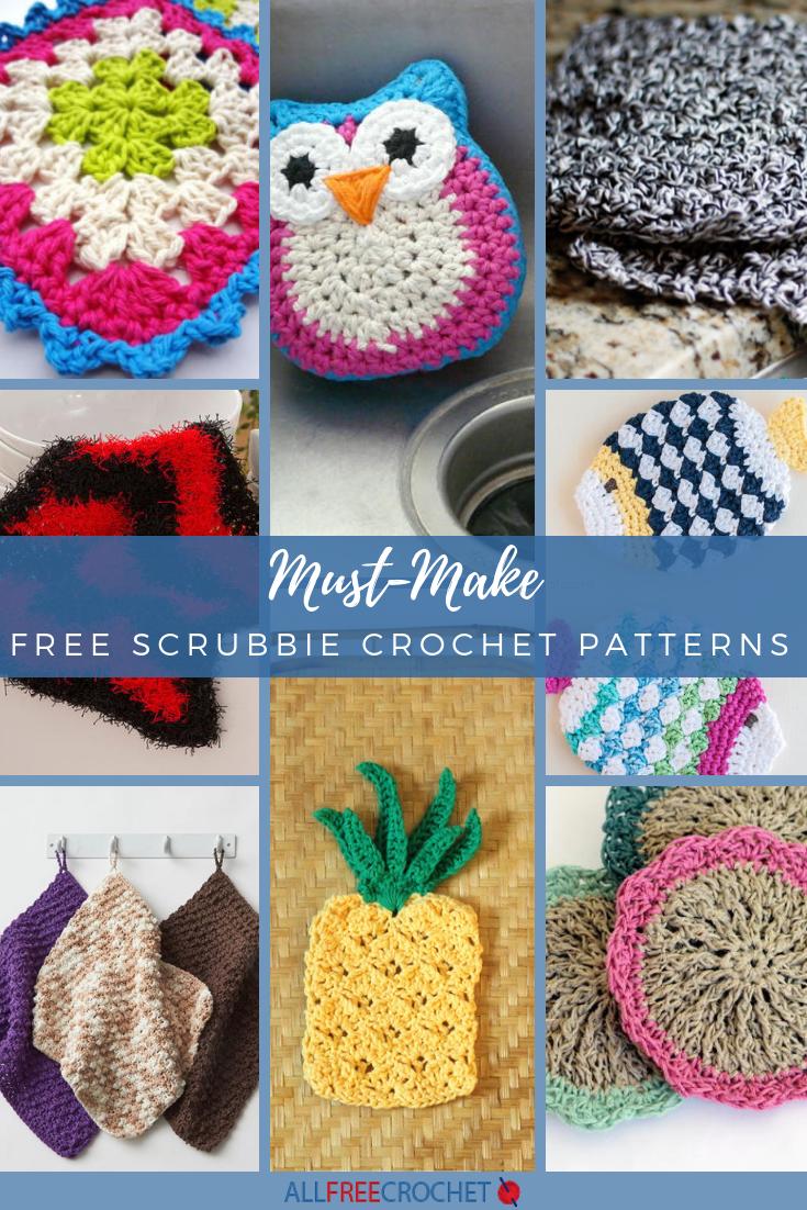 21 Must Make Free Dishcloth Scrubbie Crochet Patterns Allfreecrochet Com