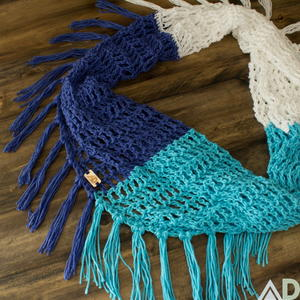 Beach Day Crochet Scarf Pattern